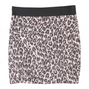 Bershka Brown Leopard Skirt