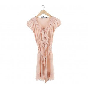 Bettina Liano Pink Mini Dress