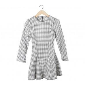 Black And White Plaid Mini Dress
