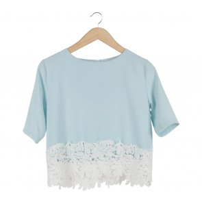 Blue And White Blouse