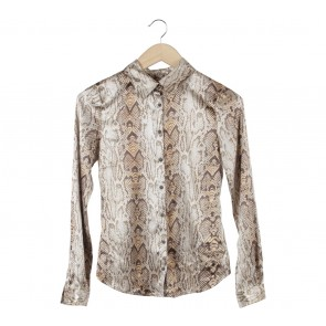 Mango Brown Snakeskin Shirt
