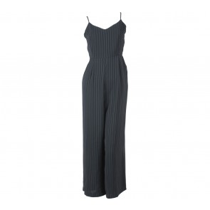 Pomelo. Black Striped Jumpsuit