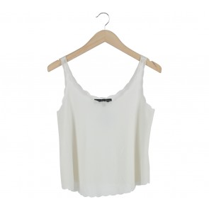 Topshop Off White Sleeveless