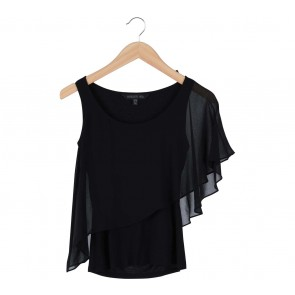 Forever New Black Flare Sleeveless Blouse