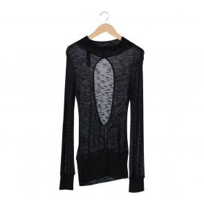 Zara Black Shimmer Back Cut Out  Mini Dress