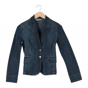Mango Blue Denim Blazer