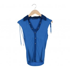 Karen Millen Blue Sleeveless Shirt