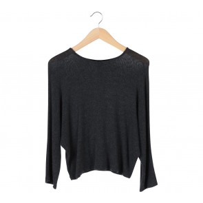 Zara Grey Knitted Blouse