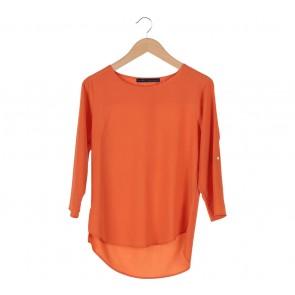 Zara Orange Basic Blouse