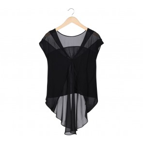 Forever New Black Asymmetric Blouse