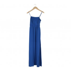 Forever New Blue Slit Long Dress