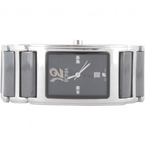 Bonia Black And Silver Watch