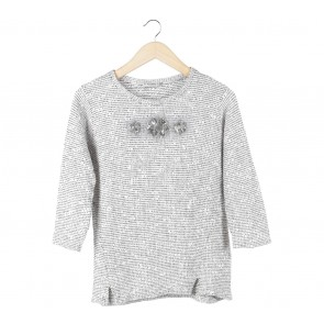 Pull & Bear White And Black Sweater