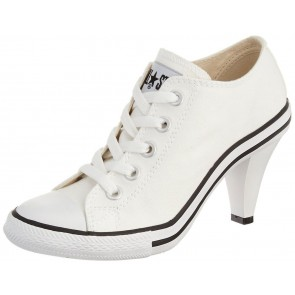 Converse All Star White Heel Sneakers