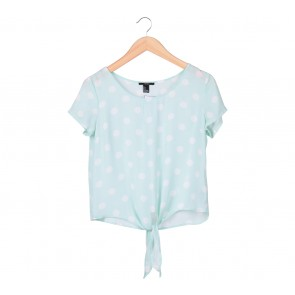 Forever 21 Green Polka Dot Blouse