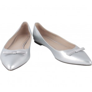 Charles and Keith Silver Flats