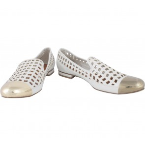 Charles and Keith White Net Flats