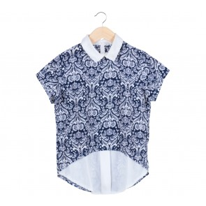 Blue And White Combi  Shirt