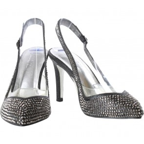 Pazzion Black Perforated Heels