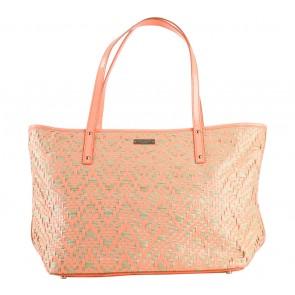 Kate Spade Peach Webbing Tote Bag