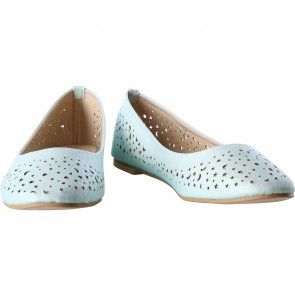 Zalora Turquoise Perforated Flats