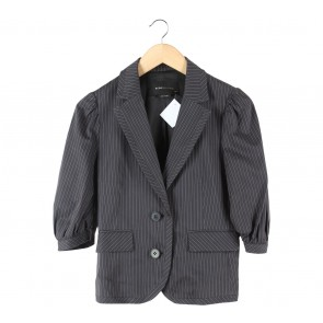 BCBG Maxazria Grey Striped Blazer