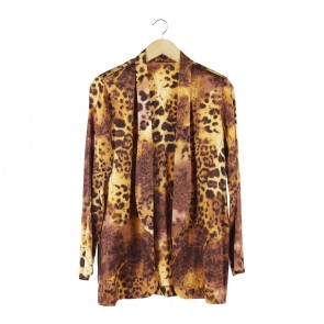 Brown Leopard Blazer