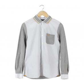 Fred Perry Grey Striped Shirt