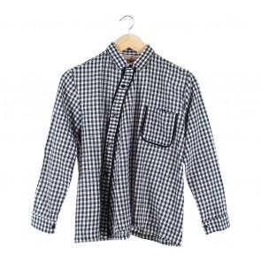Geulis Dark Blue And White Shirt