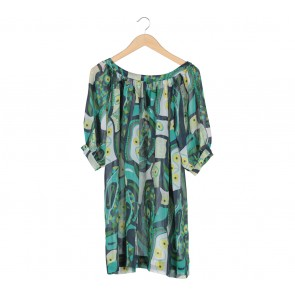 French Connection Multi Colour Abstract Sheer Blouse