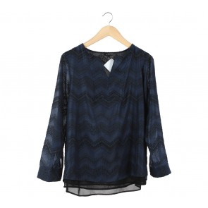 The Limited Dark Blue Blouse