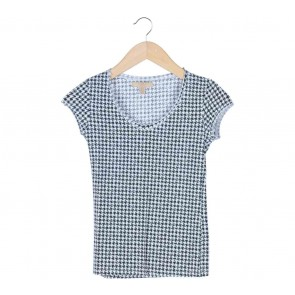 Zara Black And White Houndstooth  T-Shirt