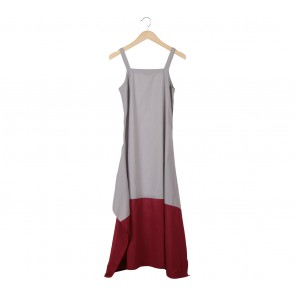 Biasa Grey and Red Long Dress