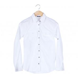 Massimo Dutti White Pocket Shirt