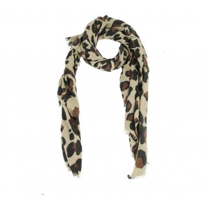 Zara Brown Leopard Scarf