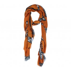 Zara Orange Butterfly Scarf