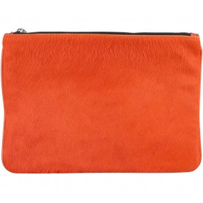 Zara Orange Fur Pouch