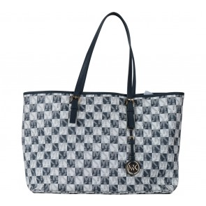 Michael Kors Blue And White Monogram Handbag