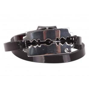 Alexander McQueen Black Razor Triple Wrap Bracelet Jewellery