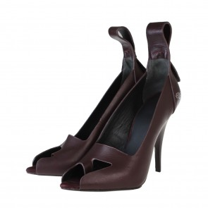 Alexander Wang Dark Brown Leather Pump Heels