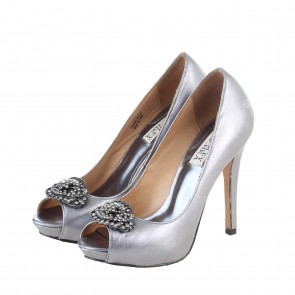Badgley Micshka Silver Goodie Heels