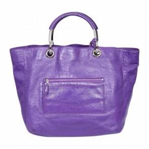 Balenciaga Purple Metal Handle Shoulder Bag