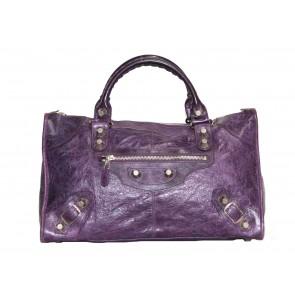 Balenciaga Purple Tote Bag