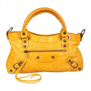 Balenciaga Yellow Classic First Satchel Bag