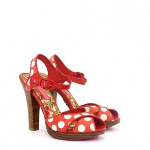 Betsey Johnson Red Polkadots Sandals