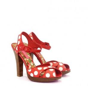 Betsey Johnson Red Polkadots Sandals