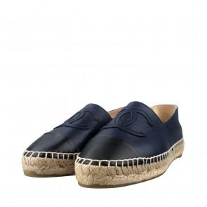 Chanel Espadrilles Black Lambskin Sneakers