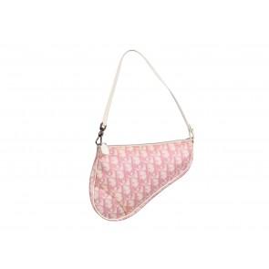 Christian Dior Pink Monogram Mini Saddle Tote Bag