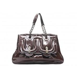 Fendi Brown B. Bag Patent Leather Shoulder Bag
