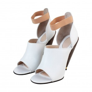 Givenchy White Leather Dunka Booties